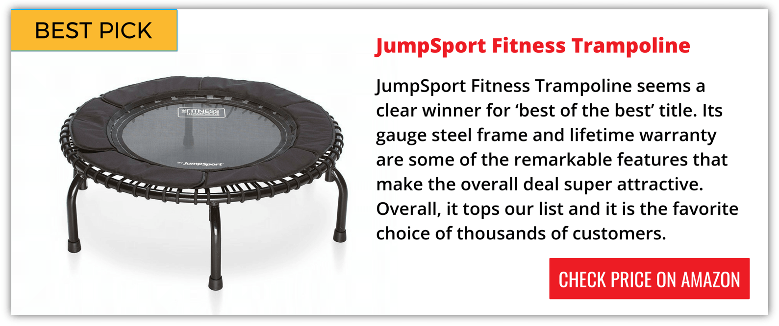 Best Mini Trampoline Reviews 2018